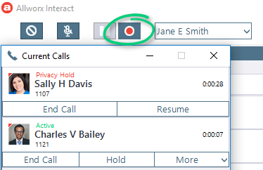 Select Call Recording Options