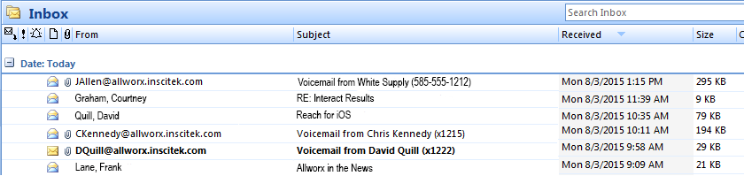 Voicemail to Email